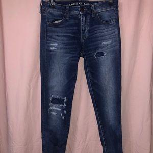 AEO High- Rise super skinny jeans